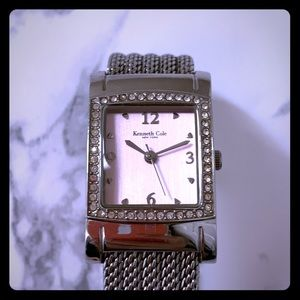 Pink Kenneth Cole stainless steel watch